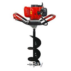 2.2HP 52CC Gas Powered Post Hole Digger With 6/10 Earth Auger Power Engine US