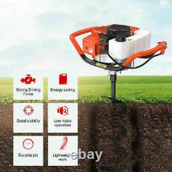2.2HP Earth Auger Gas Powered Post Hole Digger 52cc Power Engine
