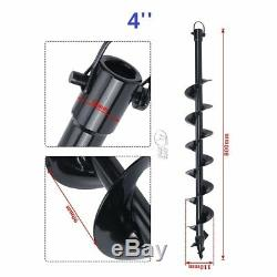 2.3HP 52CC Gas Power Engine Post Hole Digger with Auger Drill Bit 4/6/8/10/12