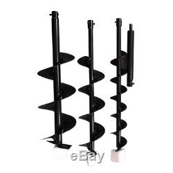 2.3HP Gas Power Post Hole Digger+4'' 6'' 8Earth Auger Drill Bit 52CC Engine USA