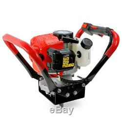 2.3 HP Gas Powered Post Hole Digger with2 auger Bits 6 + 10 55CC Power Engine
