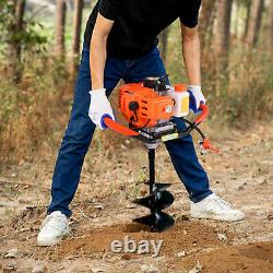 2.5HP 52CC Gas Powered Post Hole Digger Earth Auger 6500r/min Without drill