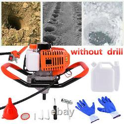 2.5HP 52cc 40-250MM Drill Auger Post Hole Digger Gas Powered Earth Auger US