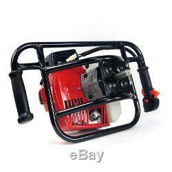 2.5HP 63cc EPA Gas-Powered Earth Post Hole Digger with 6 Digging Auger Bit