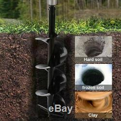 2.5HP Gas Powered Post Hole Digger with TWO Earth Auger Drill Bit 6 & 10