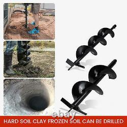 2.5HP Gas Powered Post Hole Digger with TWO Earth Auger Drill Bit 6 & 10 52cc