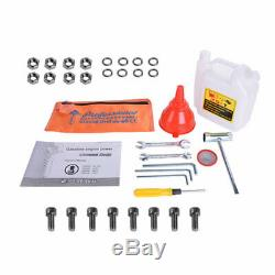 2.85HP Gas Power Post Hole Digger & 3 Auger Bits 5 6 8 52CC Power Engine Kit