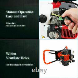 2.85HP Gas Powered Post Hole Digger with 3 Earth Auger Drill Bit 4'' 6 & 8 DIY