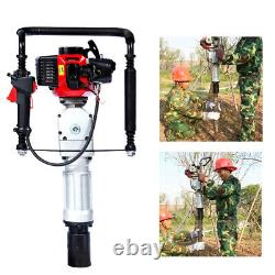 2 Stroke T-Post Driver Power Pile Hole Drive Rammer Fence Gasoline Engine 52cc