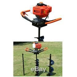 2-stroke Gas Powered Post Hole Fence Digger Auger 52CC&Drill Bits 4 6 8 best