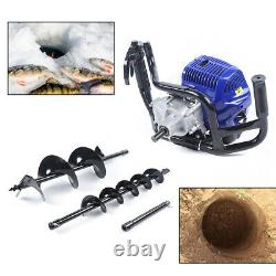 2 stroke Gasoline Earth Auger Power Engine Post Hole Digger & 4/8 Drill Bits