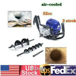 2 stroke Gasoline Powered Earth Auger Power Engine Post Hole DiggerwithDrill Bits