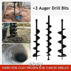3HP 52CC Post Hole Digger Gas Powered Earth Auger Borer Fence Ground Drill NEW