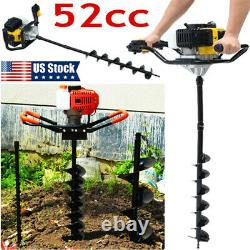 3HP Gas Powered Post Hole Digger with 3 Earth Auger Drill Bit 4/ 8/10 New USA