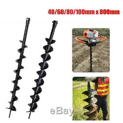 40/60/80/100mm x 800mm Earth Auger Drill Bit for Gas Powered Post Hole Digger