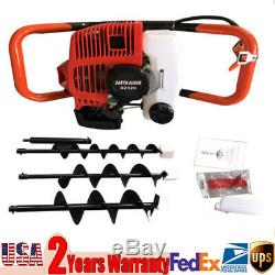 4'' 6'' 8'' Earth Auger Bits for Gas Powered Post Hole Digger 52cc 1.7With8500rpm