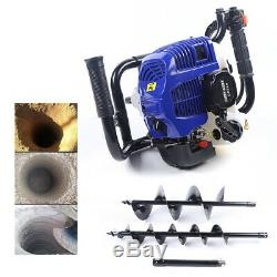 4 8 Drilling Bit+rod 52CC Power Earth Auger Post Fence Gas Hole Digger Bore