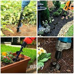 4 INCH Earth Auger Drill Bits Garden Flower for Gas Powered Post Hole Digger