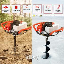 52CC 1.8kw Gas Powered Earth Auger Head Post Hole 6500rpm Digger Machine