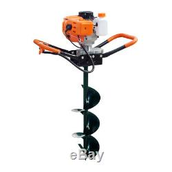 52CC 2.2 HP Gas Powered Post Hole Digger + 8 auger Bits Drill Power Engine HOT