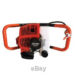 52CC 2.3HP Gas Powered Post Hole Digger & 4 6 8 Earth Auger Bits & 12 Bar US