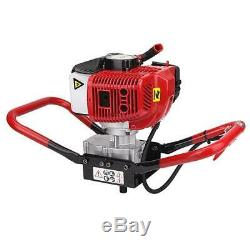 52CC 2.3HP Gasoline Powered One Man Post Hole Digger with 10 Auger Drill Bits