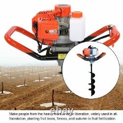 52CC 2-Stroke Gas Power Earth Auger Power Engine Post Hole Digger Borer Machine