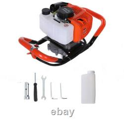 52CC 2-Stroke Gas Powered Auger Digger Post Hole Borer Ground Drill+4,6,8Bit