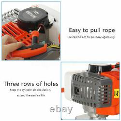 52CC 2-Stroke Gas Powered Engine Post Hole Digger Auger Borer Fence Drill+4 Bit