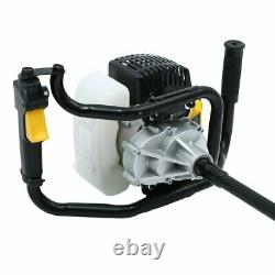 52CC 2-Stroke Gas Powered Post Hole Digger Auger Borer Fence Drill+5 6 8 Bits