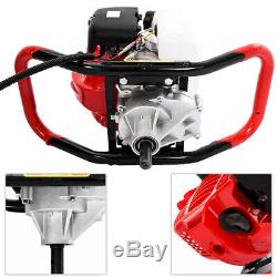 52CC 2-Stroke Gasoline Gas Powered Earth Auger Post Hole Digger Machine + Gloves