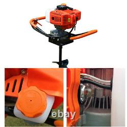 52CC 2 Stroke Post Hole Digger Gas Powered Earth Auger Borer + 3x Bits 4/6/8
