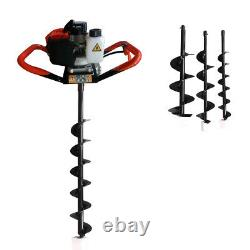 52CC 2-stroke Gas Powered Post Hole Digger With Earth Auger Digging Engine US