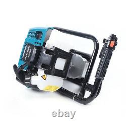 52CC Earth Auger 2-Stroke Gas Powered One Man Post Hole Digger Machine + 2 Bits