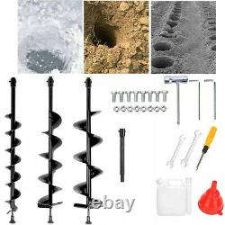 52CC Earth Auger 3HP Gas Powered One Man Post Hole Digger Machine with 3 Bits Nv