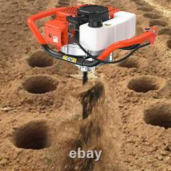 52CC Earth Auger Powerhead Gas Powered Post Hole Digger Machine 4 6 8 Drill