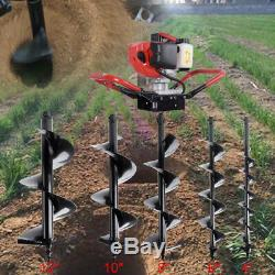 52CC Engine 2.2HP Gas Powered Post Hole Digger With 4/6/8/10/12 Drill Bit
