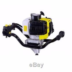 52CC Gas Power Earth Auger Power Engine Post Hole Digger+ 4 6 8 Drill Bit UR