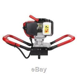 52CC Gas Power One Man Earth Auger Borer Ground Post Hole Digger Machine 1700W