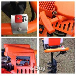 52CC Gas Powered Post Hole Digger Auger +12 Extension Bar +4, 6 & 8 Bits