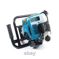 52CC Gas Powered Post Hole Digger Earth Auger Borer Fence Ground +2 Drill Bits