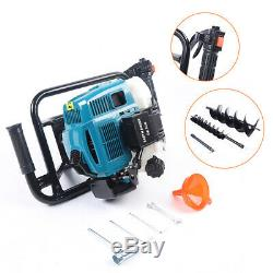 52CC Gas Powered Post Hole Digger Earth Auger Borer Fence Ground+4&8 Drill Bit