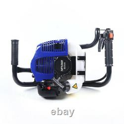 52CC Gas Powered Post Hole Digger Power Engine Motor double spiral drills + rod