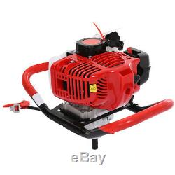 52CC Post Hole Digger Gas Powered Earth Auger Borer Fence Ground Drill Bit US