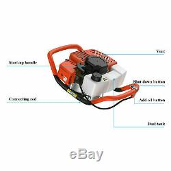 52CC Post Hole Digger Gas Powered Earth Auger Borer Fence Ground Drill Machine