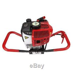 52CC Power 2.3HP Gas One Man Post Hole Digger for 4 6 8 10 12 Auger Drill Bits