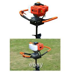 52cc 1.9KW Post Hole Digger Petrol Gas Power Earth Auger Engine with 46 8 Bits