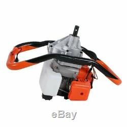 52cc 2.3HP Powered Gas Post Hole Digger Earth Digger Auger With 8 Bits Drill BP