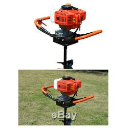 52cc 2.4PS Power Engine Post Hole Digger Gas Powered Earth Auger & 4/6/8 Bits