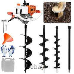 52cc 2.5HP 40-250MM Drill Auger Post Hole Digger Gas Powered Auger+3 Drill Kit